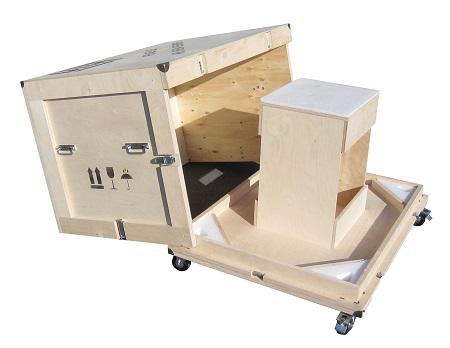 personnalisation de caisse, de contenant en bois pour le transport